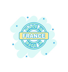Cartoon colored made in france icon in comic vector