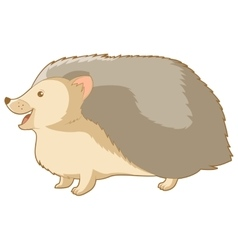 Cartoon smiling hedgehog vector