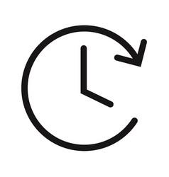 clock icon watchtime symbol vector image