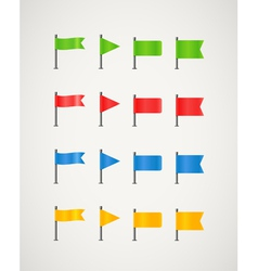 Collection of different color flags vector image