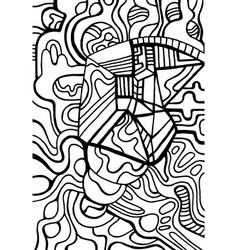 Coloring page abstract pattern maze ornaments vector