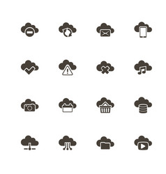computing cloud - flat icons vector image