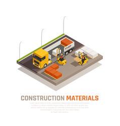 Construction supplies delivery background vector