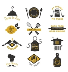 Coocking badge vector