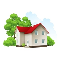 Cool detailed house icon vector