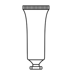 Cosmetic tube icon outline style vector