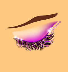 creative eyelid and eyelashes design vector image