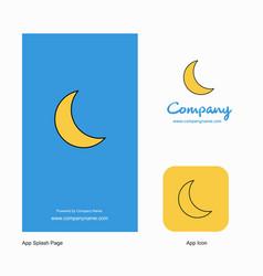 Cresent company logo app icon and splash page vector