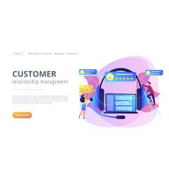customer feedback concept landing page vector image