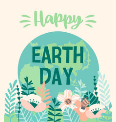 Earth day design for card poster banner vector