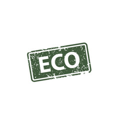 eco stamp texture rubber cliche imprint web vector image