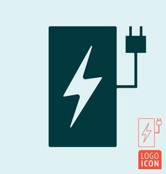 electric car charging station symbol vector image