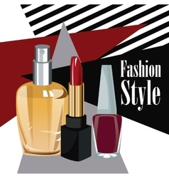 Fashion style cosmetics perfume wo poster vector