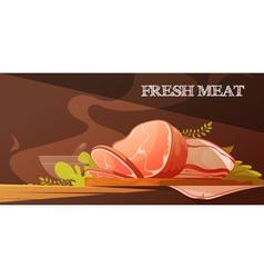 Fresh Meat Cartoon vector image