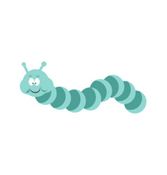 Funny caterpillar with friendly face small vector
