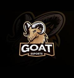 Goat sport logo mascot vector