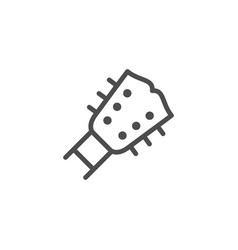 Guitar line icon vector