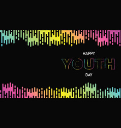 happy youth day abstract glow gradient web banner vector image