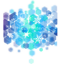 Hi-tech christmas background vector