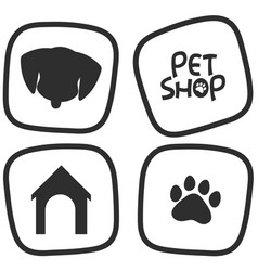 Icon desings for pets vector