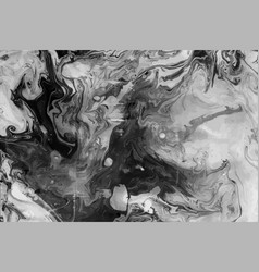 ink marble black and white grunge texture vector image