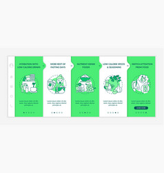 Intermittent fasting strategy onboarding template vector