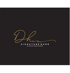 Letter dh signature logo template vector