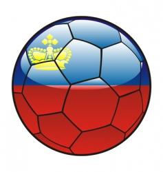 Liechtenstein flag on soccer ball vector