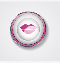Lipstick kiss on white background vector
