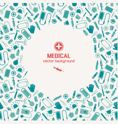 Medical instruments background vector