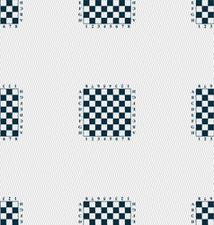 Modern Chess board sign Seamless pattern with vector image