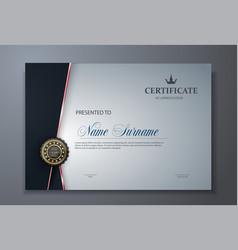 modern premium certificate award design template vector image