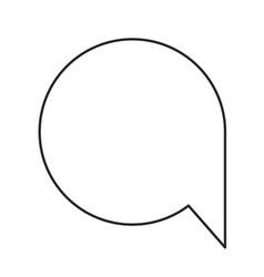 monochrome silhouette of speech bubble icon vector image