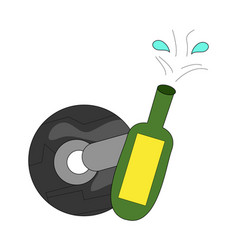 motor race finish clip art vector image