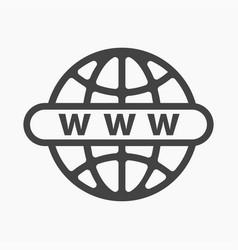 Online website or internet flat icon vector