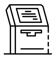 Payment machine icon outline style vector