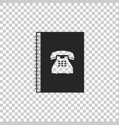 phone book icon isolated address book vector image