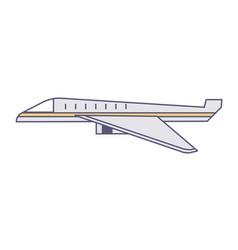 plane traveling or delivering cargo logistics vector image
