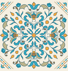Portuguese tile beautiful colored pattern for vector