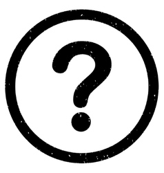 Question Icon Rubber Stamp vector