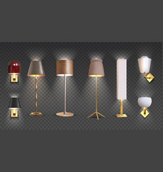 realistic floor lamp 3d closeup render of vector image