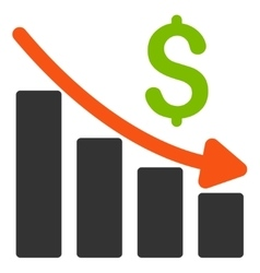 Recession Trend Flat Icon vector