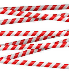 Red and white danger tape vector image
