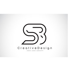 Sb s b letter logo design in black colors vector