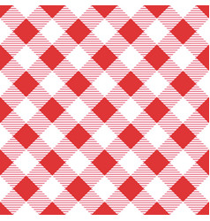 seamless red table cloth texture diagonal lines vector image