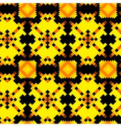 Seamless texture with aztec drawing vector