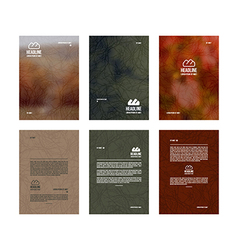 set poster templates vector image