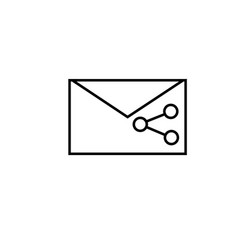 shared mail icon vector image