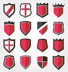Shield set icon vector