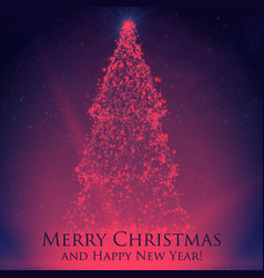 Shining christmas trees on colorful vector